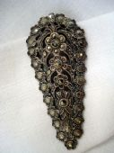 1930's Floral Silver and Marcasite Dress Clip (SOLD)
